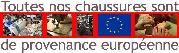 Chaussures de provenance européenne